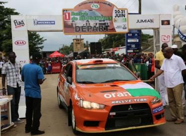 Première édition du Rallye de Bingerville - L'équipage d'Orange dans le top 5