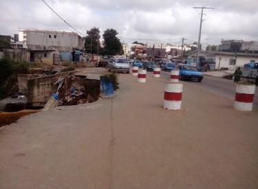 Yopougon: fortement dégradé, le pont de l'hôtel Kimi fermé pour travaux