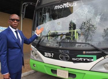 15 bus de la SOTRA vandalisés, 4 personnes interpellées