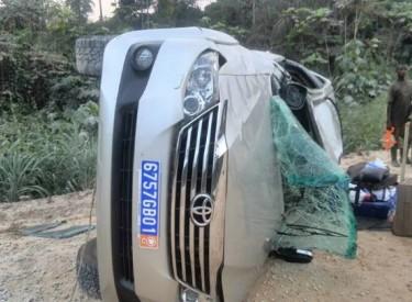 En route pour un meeting dans sa localité, le Directeur local de campagne d'Alassane Ouattara à Ouellé victime d'un accident de la circulation