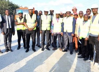 Amédé Kouakou s'enquiert de l'état des travaux de l'axe Bassam-N'Zikro