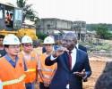 Le ministre Amédé Kouakou visite le chantier du 4ème pont