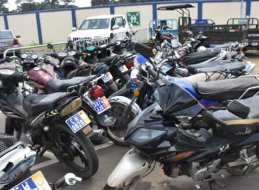 Transport à Abidjan : 364 motos et tricycles saisis et mis en fourrière, au cours de contrôles